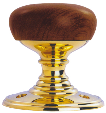 DK32 Wooden Walnut/Polished Brass