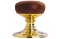 - Wooden Walnut/Polished Brass