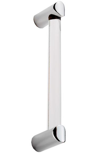 Carlisle Brass Acrylic Clear Chrome Cabinet Handle