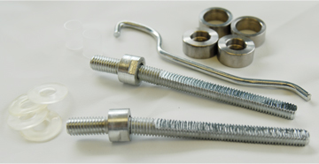 25mm Back To Back Fixing Kit Satin Stainless Steel