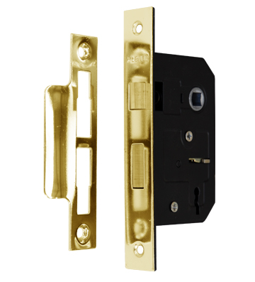 3 Lever Sashlock Polished Brass
